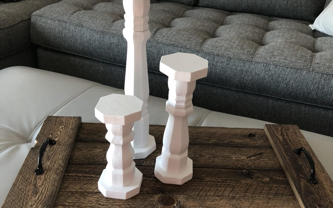 How to Make Rustic Candlesticks