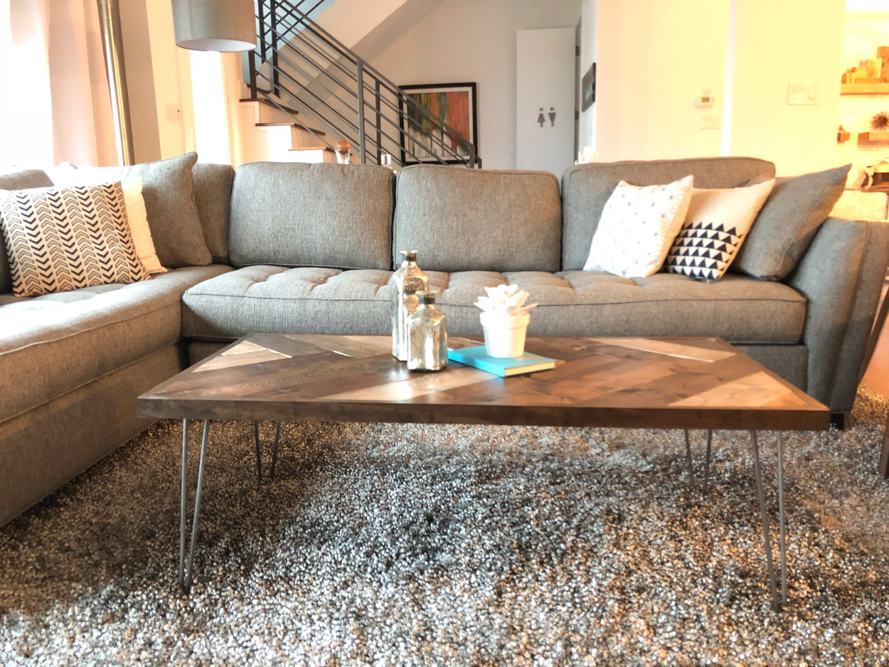 how to make your own coffee table smitten modern. Black Bedroom Furniture Sets. Home Design Ideas
